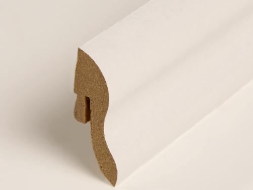 sockelleisten fu leisten f r laminat 40mm dekor wei ebay. Black Bedroom Furniture Sets. Home Design Ideas
